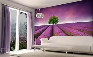 fototapete fur kuche cool fototapete k che abwaschbar und With markise balkon mit tapete mit lavendelmotiv