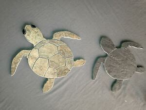 baby hawaiian sea turtle tile mosaic  shadow green