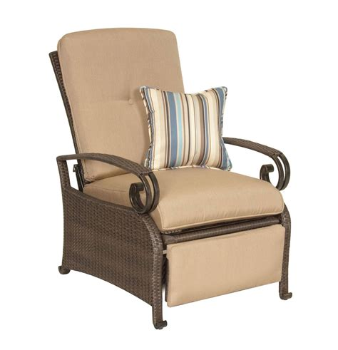 reclining club chairs lake como combo two patio recliners and side table khaki 1747
