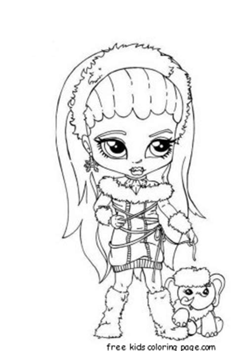 abbey bominable  girl monster high coloring pagefree