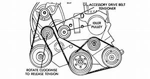 Where To Find Serpentine Belt Diagram  Label Is Gone  For 1994 Voyager 3 0l 2wd