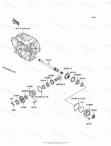 Kawasaki Atv 2007 Oem Parts Diagram For Front Bevel Gear