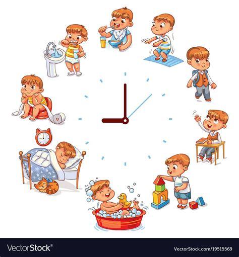 pin  noredzuana  daily routine baby cartoon