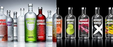 brand   packaging  absolut vodka flavours