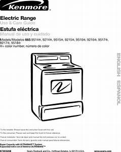 Kenmore 66592142300 User Manual Range  Electric Manuals