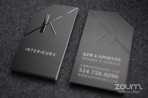 embossed business cards zoum embossing