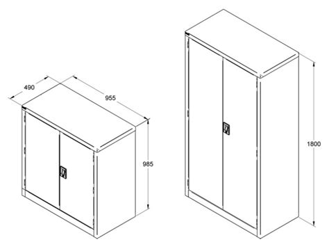Standard Cupboard Dimensions by Maxim Filing Systems Storage Cabinet