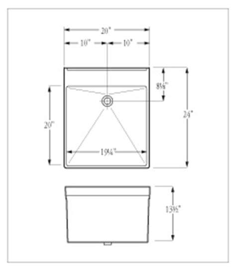 Standard Mop Sink Dimensions by Florestone Utility Sinks 20wm
