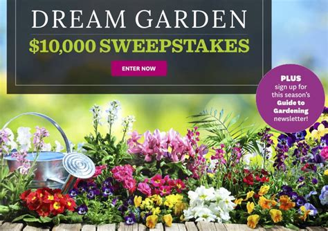 homes  gardens dream garden sweepstakes
