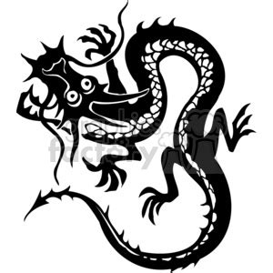 chinese dragon tattoo design clipart royalty  clipart