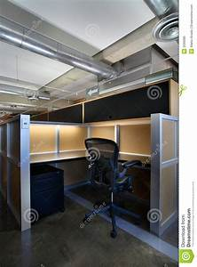 Empty office cubicle stock photo. Image of cubicle ...