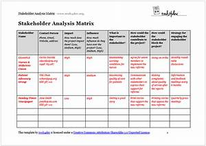 Gap Chart Excel Stakeholder Analysis Template Template Business
