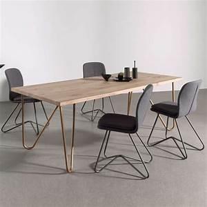 Pied De Table Original : table design plateau bois massif pieds g om triques en m tal weaver 4 ~ Teatrodelosmanantiales.com Idées de Décoration