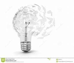 Concept Of A Utopian Idea. Broken Light Bulb Stock Photo ...