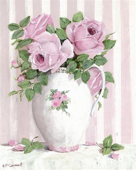 cuadro tris rose shabby regency roses decoupage
