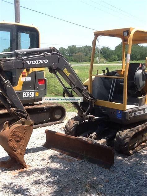 volvo ecr excavator  trackhoe dozer blade