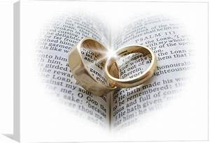 Wedding rings on an open bible canvas print by pete holloway for Wedding ring meaning bible