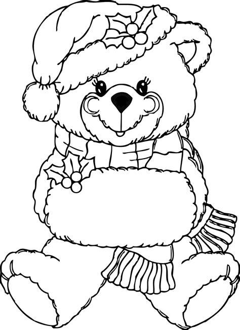 clipartistnet clip art christmas bear black white