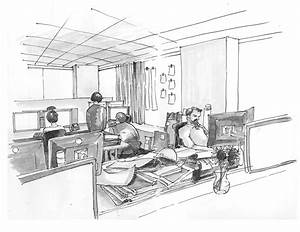 Gallery Of 42 Sketches  Drawings And Diagrams Of Desks And