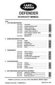 Land Rover Defender Workshop Service Repair Manual