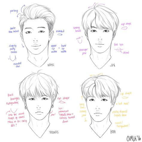 pointers    draw rap monster jin suga   hope