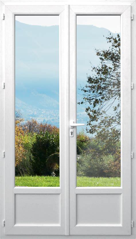 cuisine avec porte fenetre porte fenêtre pvc 2 vantaux dormant de 98 mm avec