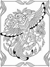 Paradise Coloring Pages Birds Adult Getdrawings sketch template