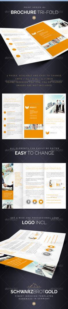 Graphicriver Brochure Tri Fold A4 Series 1 Print Templates On 88 Pins