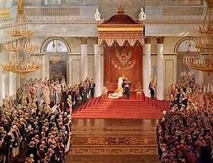 Tsar Nicholas II opens the first State Duma from the ...