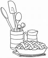 Pie Coloring Apple Pages Printable Serving Food sketch template