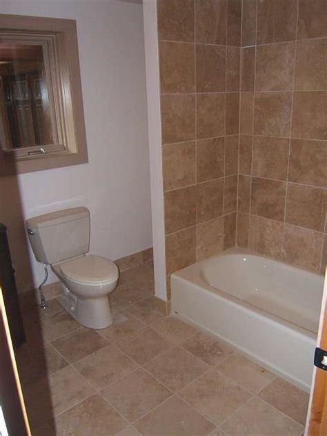 tub tile matching floor tile mixed  drywall