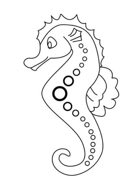 seahorse coloring pages kidsuki