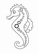 Coloring Seahorse Pages Printable Sea Cartoon Horse Line Print Dotted Patern Cute Mosaic Animals Drawing Lovely Colouring Seahorses Sheets Drawings sketch template