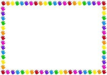 colourful hands border  lightbulb moments learning tpt