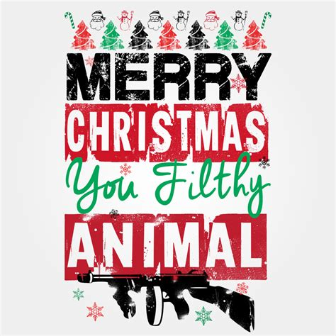 Merry Christmas You Filthy Animal Meme - merry christmas meme merry christmas you filthy animal i com feliz navidad clipart