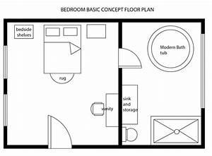 Interior Design  U0026 Decor  Modern Bedroom Basic Floor Plan