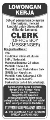 September 2015 august 2015 july 2015 june 2015 may 2015 april 2015 march 2015 february 2015. Lowongan Kerja PT. Evergreen Shipping Agency Indonesia ...