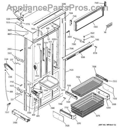 parts  ge zicnrflh freezer section trim components parts appliancepartsproscom