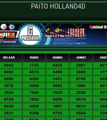 paito hollandd hasil result togel holland