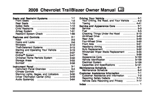chevrolet trailblazer owners manual  give