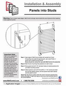 Instructions On How To Install Metal Pegboard Into Studs