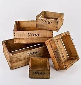 Alte Holzkisten Kaufen : dadeldo casse in legno set di 5 pz con scritta vino ~ A.2002-acura-tl-radio.info Haus und Dekorationen