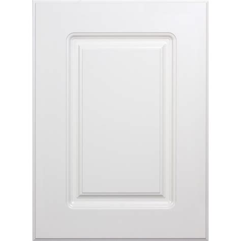 white thermofoil kitchen cabinet doors shop surfaces 10 in w x 22 in h x 0 75 in d rigid 1875