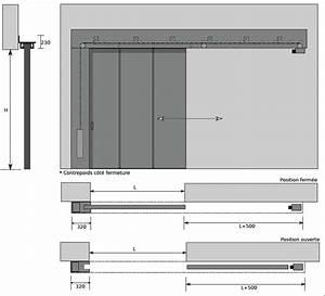 Plan Porte Coulissante : porte coulissante 230 le bois chez vous ~ Melissatoandfro.com Idées de Décoration