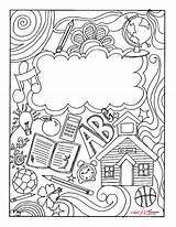 Binder Coloring Printable Covers Templates Colouring Student Sheets Notebooks Math Take Teacher sketch template