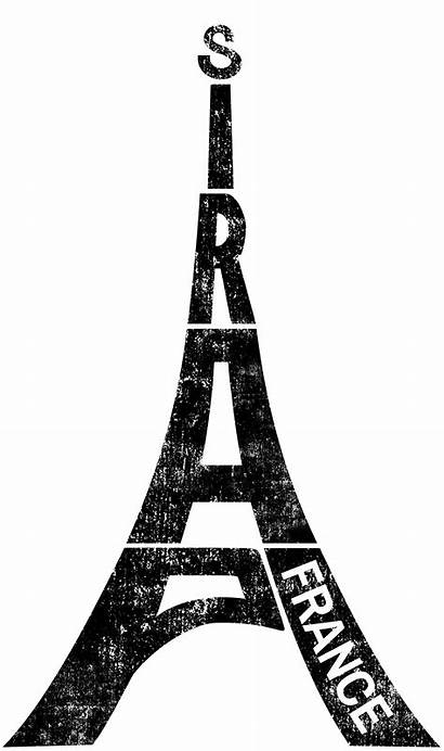 Tower Eiffel France Paris Typography Souvenir Gemerkt