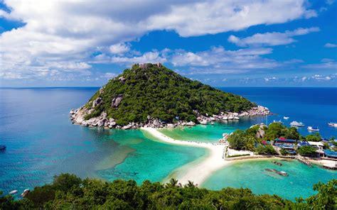 places  thailand island koh nang yuan full hd