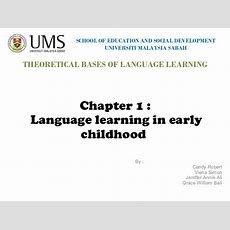 Chapter 1 Language Learning In Early Childhood