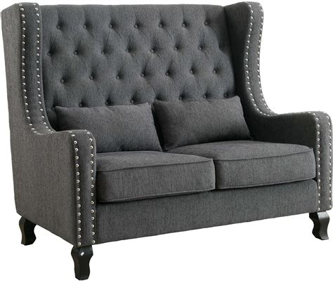 Bench Loveseat by Alicante Gray Loveseat Bench From Furniture Of America