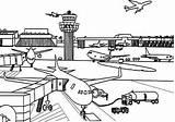Airport Coloring Drawing Airplane Drawings Vliegveld Kleurplaat Sheets Sketch Kid Zeichnung Cessna Template Flugzeug Coloringsky Take Adult Sample Books Kinder sketch template